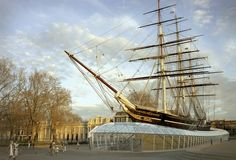 """""""Visitors can venture underneath the three-masted sailing ship, which has been raised three metres above her dry dock to afford views of the elegant hull that made Cutty Sark the fastest clipper of her time. Greenwich Park, London England, London Guide, Things To Do In London, Wooden Boats, Tall Ships, Days Out, New Pictures, Candles"""