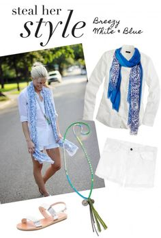 Steal Her Style: Breezy White & Blue | www.theglitterguide.com