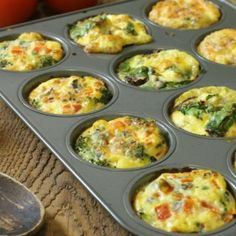 A fast and healthy breakfast option, these breakfast egg muffins offer variety, easy, and nutrition to your morning routine. Perfect for meal prep! in muffin tin Breakfast Egg Muffins (With 3 Variations) Healthy Breakfast Muffins, Healthy Breakfast Options, Breakfast Cups, Breakfast Casserole, Breakfast Omelette, Breakfast Cookies, Health Breakfast, Chef Recipes, Egg Recipes