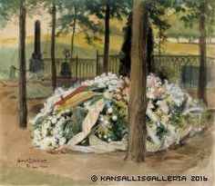 Albert Edelfelt - Discover Exceptional Oil Paintings Alexandra Edelfelt's decorated tomb - The Largest Art reproductions in UK online. Vincent Van Gogh, Large Art, Art Reproductions, Art For Sale, Art Gallery, Artist, Painting, Decor, Museum