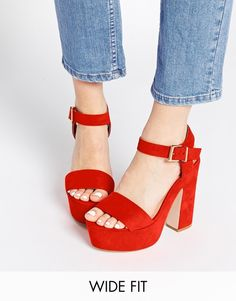 ASOS - HIGHLIGHT - Sandales larges a talons chez ASOS