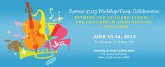 Juilliard in Aiken Summer Jazz Workshop. Deadline extended to May 15, 2013. Scholarships available