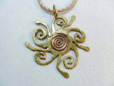 Vintage Pendant Necklace / Collar / Choker Copper & by KathiJanes, $24.95