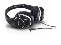 Denon Music Maniac On-Ear Headphones.  • Model : AH-D340.  • Specification :  - Color / Black with Pearlized White Accents - Driver Diameter / 40 mm - Driver Type / Dynamic - Impedance / 36 ohms - Sensitivity / 108 dB/mW - Maximum power input / 1300 mW - Frequency Response / 7-37,000 Hz - Weight / 250 grams