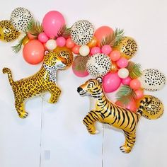 2nd Birthday Party For Girl, Safari Theme Birthday, Birthday Ideas, Third Birthday, Birthday Brunch, Baby Party, Birthday Decorations, Pink Leopard Party, Leopard Birthday