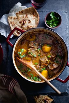 Sinfully Spicy - Slow Cooked Lamb & Potato Stew