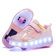 Sneakers With Wheels, Girls Sneakers, Boys Shoes, Big Backpacks, Rose Orange, Little Pony Birthday Party, Pink Laptop, Light Up Shoes, Long Toes