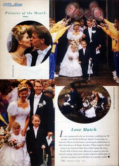"""Article from """"Tennis"""", issue of July 1992, about Stefan Edberg and Annette Olsen's marriage in Växjö on April 18th, 1992."""