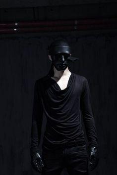 Best Men's Punk & Avant Garde Fashion Cowl-Neck Long-Sleeve T-Shirt by Virgin Blak