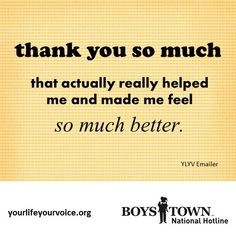 Thank you from YLYV emailer | yourlifeyourvoice.org