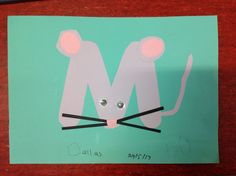 "Letter ""M"" Kid's Arts & Craft - Mouse"