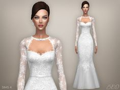 Sims 4 CC's - The Best: Wedding dress - Tatiana by Beo Sims