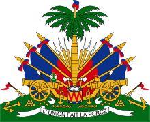 Brasão de armas do Haiti. Coat of arms of Haiti.