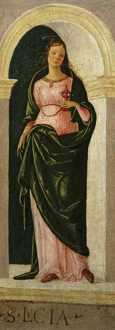 Saint Lucy / Santa Lucía // ca. // Lorenzo Costa // © High Museum of Art Santa Lucia, High Museum, Art Museum, St Lucia Day, Lost Pictures, Good To See You, Italian Painters, Catholic Art, Art Projects