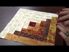 Patchwork Sem Segredos com Ana Cosentino: Aula 18 (Log Cabin) - YouTube