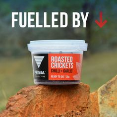 Fuelled by Primal Collective Australian Roasted Crickets! Paleo-friendly and great workout snack. Edible Insects, Crickets, Sustainable Food, Paleo Diet, Roast, Protein, Packing, Healthy Recipes, Snacks