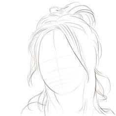 Face outline good hair