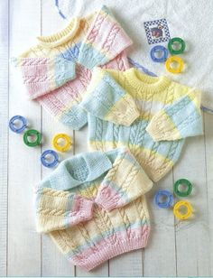 Baby knitting pattern 16-24 chest DK Cable by KnittingPatterns4all