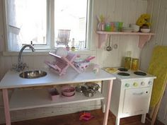 Aplaceimagined play kitchen redo - 1000 Images About Wendy House On Pinterest Playhouse