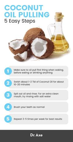Remedies For Whiter Teeth Add 3 drops of wild orange, lemon, peppermint, clove oil, cinnamon oil or tea tree oil with 1 tablespoon of coconut oil. THIS Ayurvedic practice is how you take oral health to the next level. Coconut Oil For Teeth, Coconut Oil Uses, Benefits Of Coconut Oil, Coconut Oil Detox, Oral Health, Dental Health, Bad Breath Remedy, Cinnamon Oil, Clove Oil