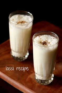 sweet punjabi lassi recipe with step by step photos - lassi is another cooling and refreshing drink to have in the summers. sweet lassi is quite popular in punjab and north india. this sweet punjabi lassi which Indian Drinks, Indian Desserts, Indian Dishes, Indian Food Recipes, Punjabi Recipes, Indian Sweets, Navratri Recipes, Punjabi Cuisine, Punjabi Food