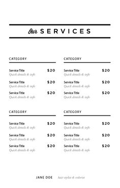 Image studios service menu template imagestudios image studios image studios service menu template imagestudios maxwellsz