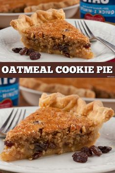 Oatmeal cookie fans will love this Oatmeal Cookie Pie - it's like making a giant oatmeal cookie! This is such an easy pie to make and it's got a great old-fashioned flavor.