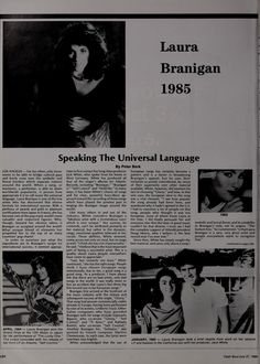 Laura 1985, speaking the universal language