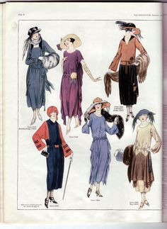 Days Gone By - November, 1921 day and afternoon fashions from The Delineator.