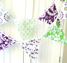Bunting - here's the purple and green we like!