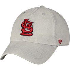 782a8bd3a30 Men s St. Louis Cardinals  47 Gray Cement Clean Up Adjustable Hat