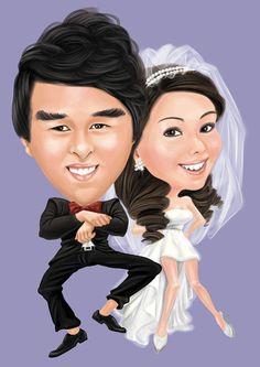 21 Best Custom Wedding Caricatures From Photos Cartoon Portrait