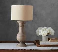 Finn Turned Wood Table Lamp Base #potterybarn