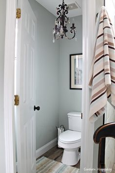 Sherwin Williams Comfort Gray walls. I need to find these towels and the rug.