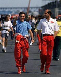Ayrton Senna & Ron Dennis. #AyrtonSenna #TheBest #SennaTheBest #MagicSenna #KingSenna #RememberSenna #Remember #Forever #FormulaOne #F1 #Imortal #SimplyTheBest #Legend #God