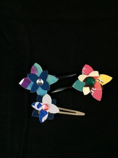Flower Power Hair Clips (set 2) by ericacatlett on Etsy
