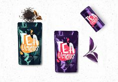 Tealicious on Packaging of the World - Creative Package Design Gallery Packaging Dielines, Food Packaging Design, Packaging Design Inspiration, Branding Design, Logo Design, Spices Packaging, Tea Packaging, Brand Packaging, Granola Bites