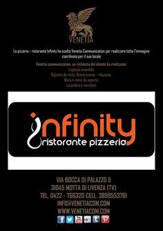 La Pizzeria - Ristorante Infinity ha scelto Venetia Communication per le sue Consulenze, Immagine e Comunicazione