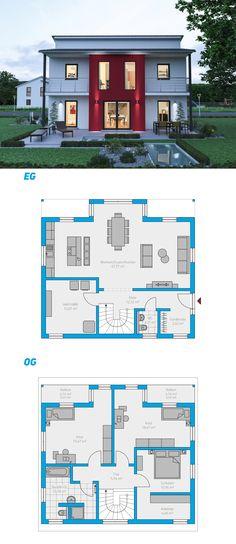 Illius 159 - schlüsselfertiges Massivhaus 2-geschossig#spektralhaus #ingutenwänden #2geschossig #Grundriss #Hausbau #Massivhaus #Steinmassivhaus #Steinhaus #schlüsselfertig #neubau #eigenheim #traumhaus #ausbauhaus
