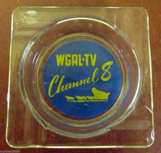 Advertising Glass Ashtray WGAL-TV Channel 8  *