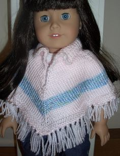AGD Striped Poncho by majorknitter, via Flickr