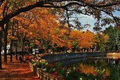 Riverfront Park, Spokane, in the fall.