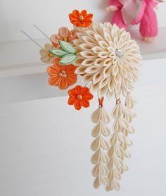 katumi made *つまみ細工の簪(かんざし)髪飾り、つまみ細工のshop*ちょっとレトロで小粋な1本