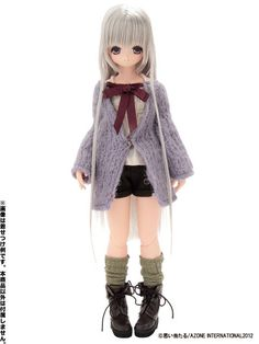 Pure Neemo S - Blue Bird's Song 6 Buttoned Short Pants/ Brown (Doll Clothing)(Back-order) 21%OFF 1,250 JPY