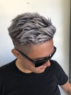 Pin on short hair color pixie Pin on short hair color pixie Super Short Hair, Short Grey Hair, Short Hair Cuts, Short Hair Styles, Fade Haircut, Pixie Haircut, Mens Hair Colour, Hair Color, Haircut And Color