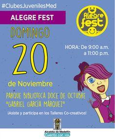 @Escolmeeduco Este domingo 20 de noviembre el equipo de #ClubesJuvenilesMed se tomará el Alegre Fest en el Doce de Octubre. ¡Te Esperamos!