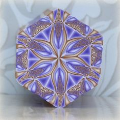 RAW Polymer Clay Kaleidoscope Cane Gold by ThePleasantPheasant