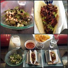 Klassisk Mexikansk brunch: Gräshoppe-taco kaktus-sallad kotunge-tacos och rismjölk med kanel. #mumsfullibibblan #chapulines #horchata #fredagsmyspåensöndag by sebbeobe