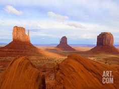 Mitten Buttes and Merrick Butte in Monument Valley Photographic Print by José Fuste Raga at Art.com