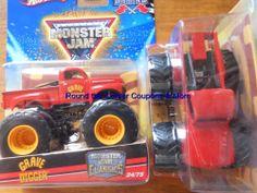 2010 Red Grave Digger #24 Classics Hot Wheels Monster Jam Truck Flag Series VHTF #HotWheels #diecast
